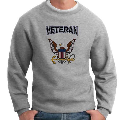 officially licensed u s navy eagle and anchor veteran crewneck sweatshirt
