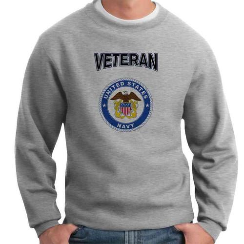 us navy eagle seal anchor veteran crewneck sweatshirt officially licensed