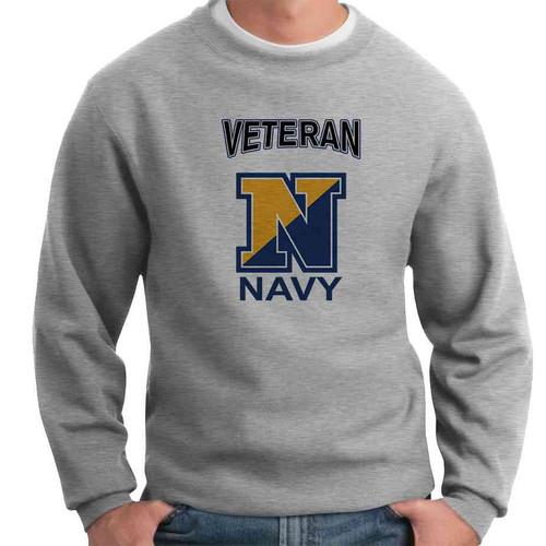 us navy n veteran crewneck sweatshirt officially licensed