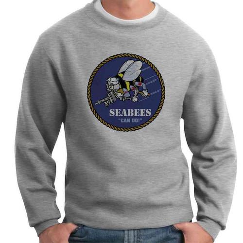 officially licensed u s navy seabees crewneck sweatshirt