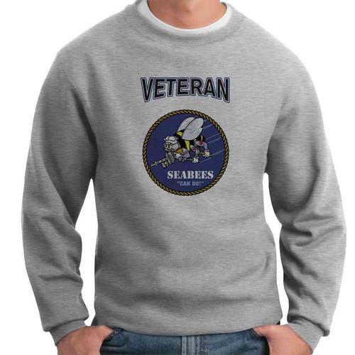 officially licensed u s navy seabees veteran crewneck sweatshirt