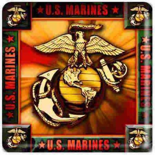 marine corps logo pulpboard coasters 4 pack