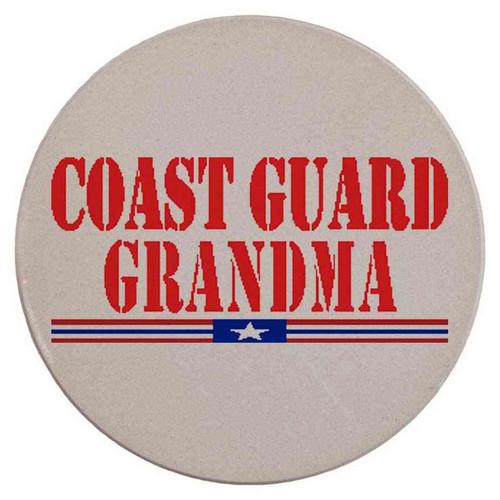 coast guard grandpa red sandstone coaster