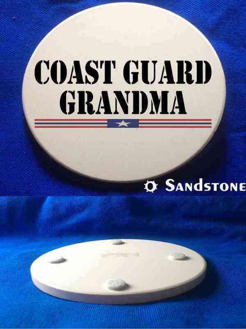 coast guard grandma sandstone coaster