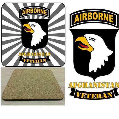 101st airborne afghanistan veteran hd hardboard coaster