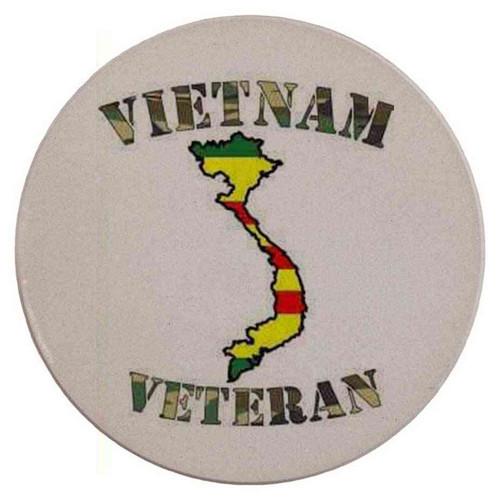 camouflage vietnam veteran map vietnam sandstone coaster