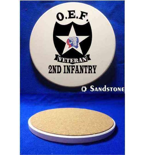 u s army 2nd infantry division oef afghanistan veteran sandstone coaster