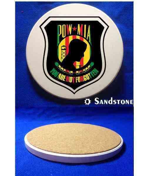 vietnam war powmia you are not forgotten sandstone coaster