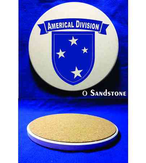 army americal 23rd infantry division sandstone coaster