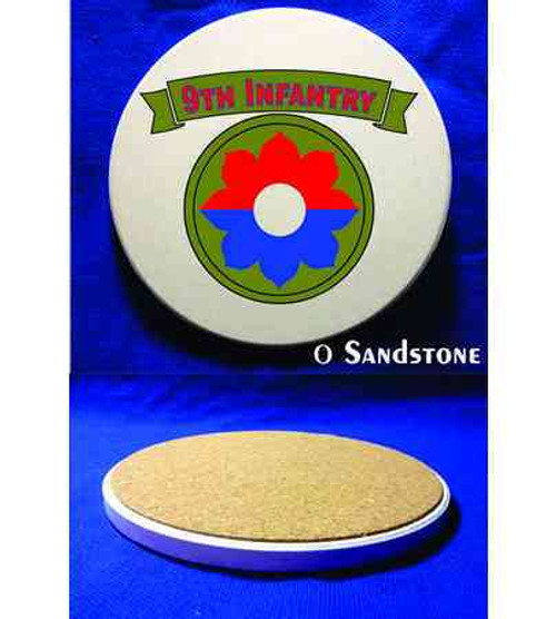 army 9th infantry division sandstone coaster