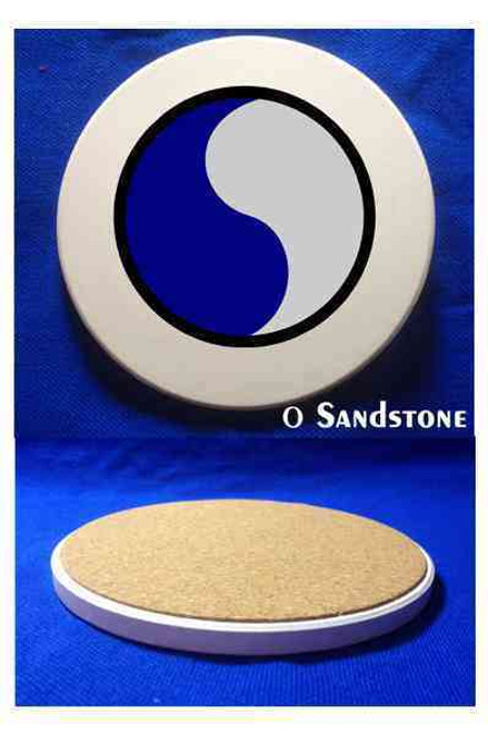 army 29th infantry division sandstone coaster