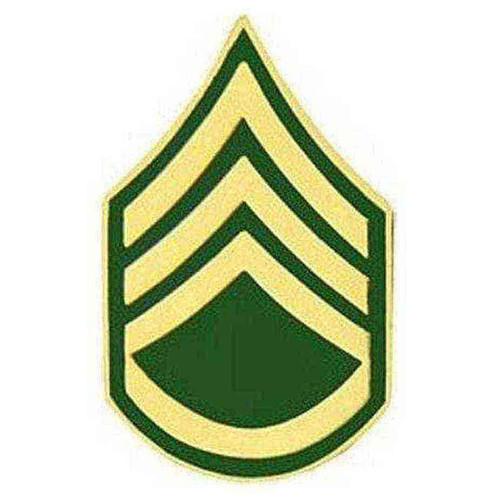 army e6 ssg hat lapel pin