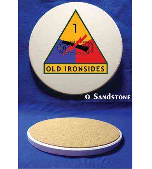 1st armored division old ironsides sandstone coaster