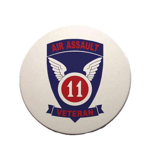 11th air assault veteran sandstone coaster