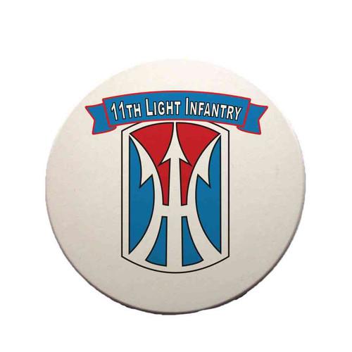 11th light infantry brigade sandstone coaster