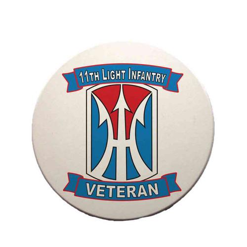 11th light infantry brigade veteran sandstone coaster