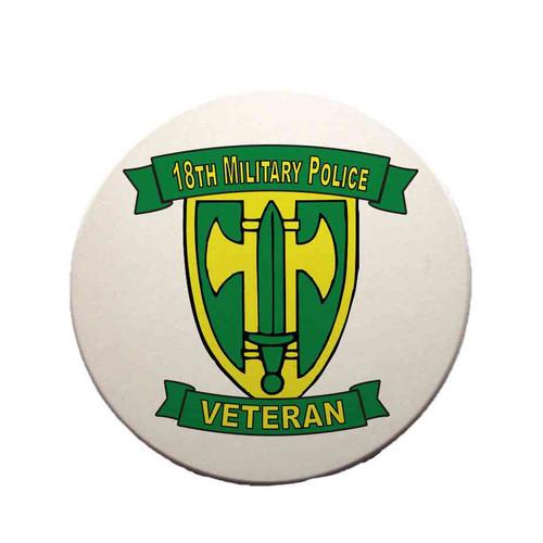 18th military police brigade veteran sandstone coaster