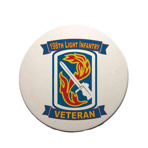 198th light infantry brigade veteran sandstone coaster