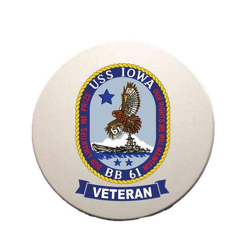 uss iowa veteran sandstone coaster