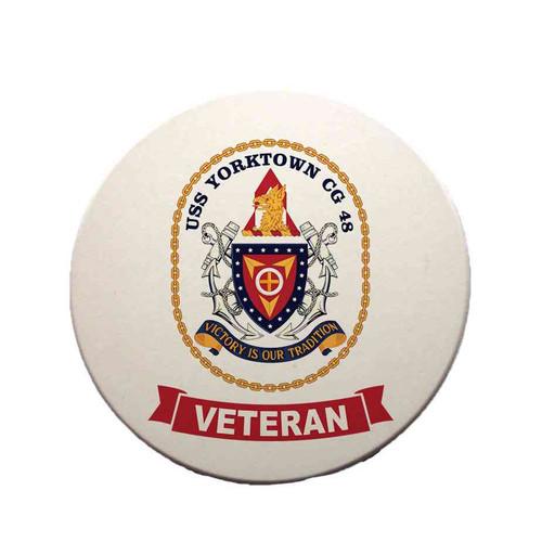 uss yorktown veteran sandstone coaster