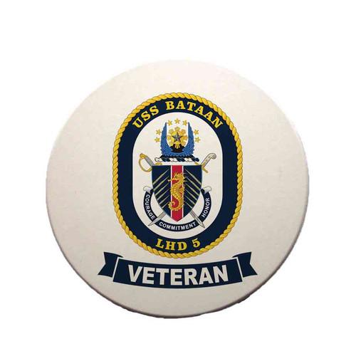 uss bataan veteran sandstone coaster