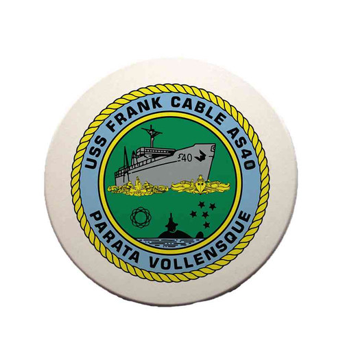 uss frank cable sandstone coaster