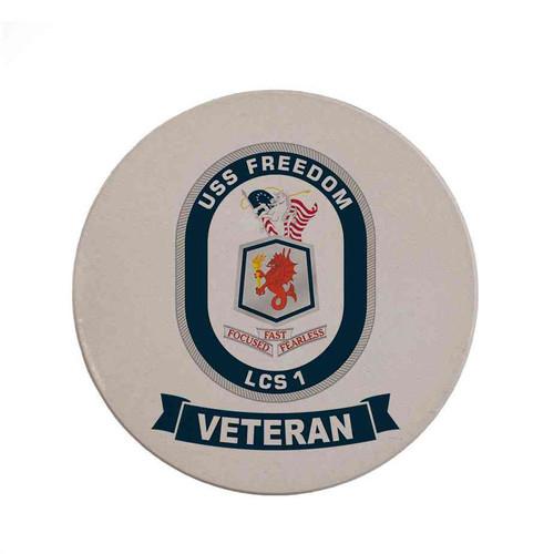 uss freedom veteran sandstone coaster