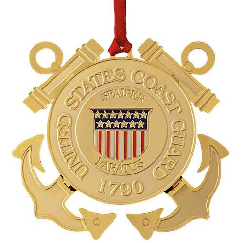 coast guard christmas ornament
