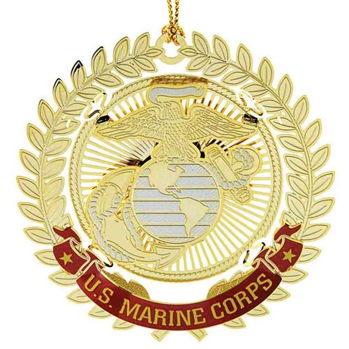 u s marine corps logo christmas ornament