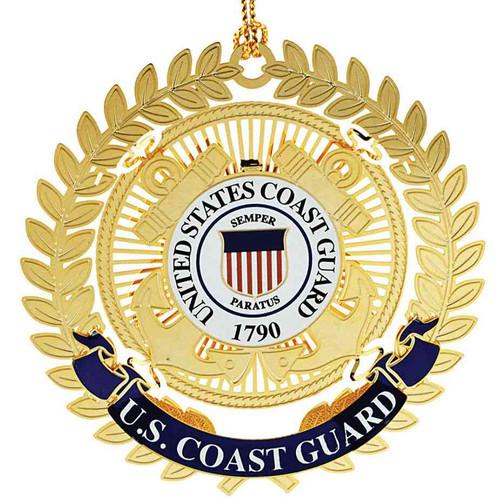 u s coast guard logo christmas ornament