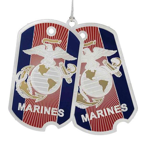 us marine corps dog tag ornament