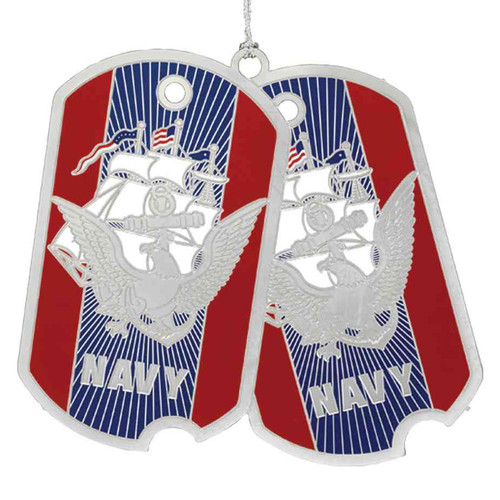 us navy dog tags ornament