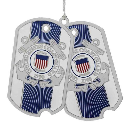 us coast guard dog tags ornament