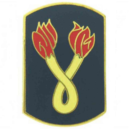 army 196th inf bde hat lapel pin