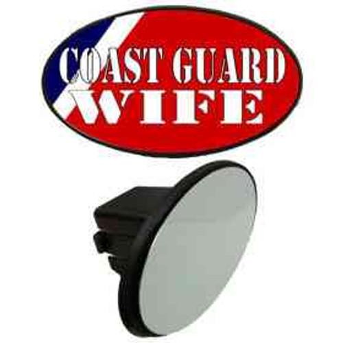 coast guard wife tow hitch cover