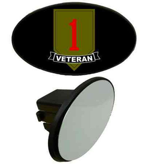 army 1st infantry division veteran tow hitch cover