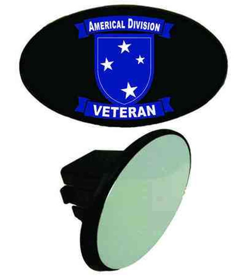 army americal 23rd infantry division veteran tow hitch cover