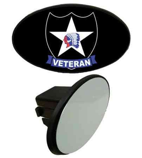 army 2nd infantry division veteran tow hitch cover