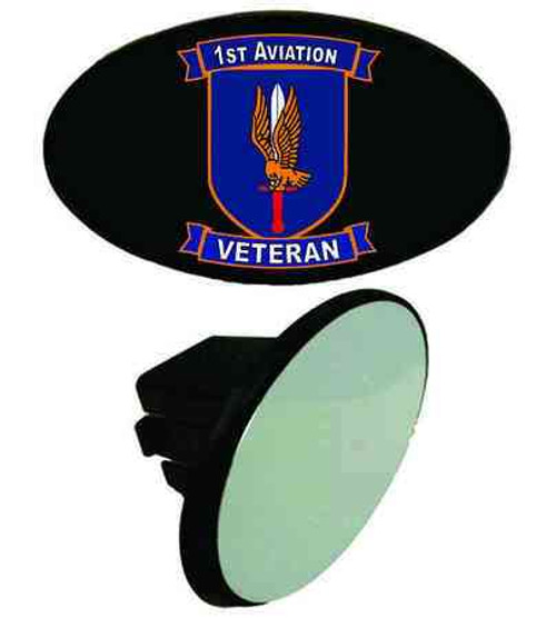 army 1st aviation veteran tow hitch cover