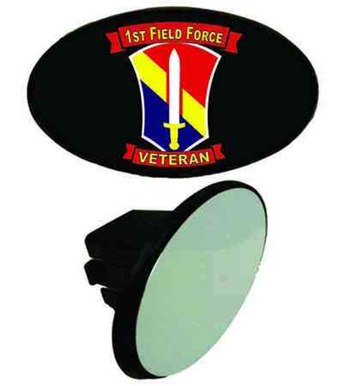 army 1st field force veteran tow hitch cover