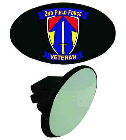 army 2nd field force veteran tow hitch cover