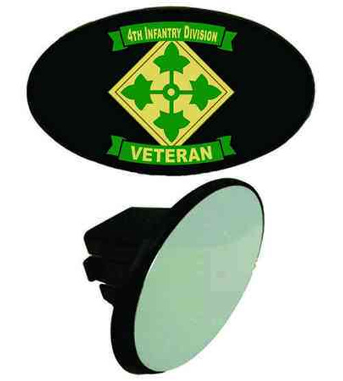 army 4th infantry division veteran tow hitch cover