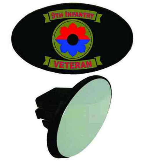 army 9th infantry division veteran tow hitch cover