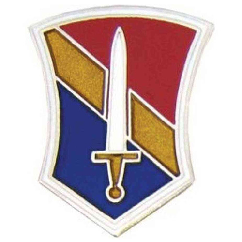 army 1st field force hat lapel pin