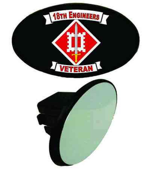 army 18th engineers veteran tow hitch cover