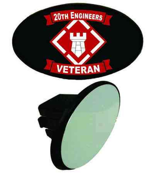 army 20th engineers veteran tow hitch cover