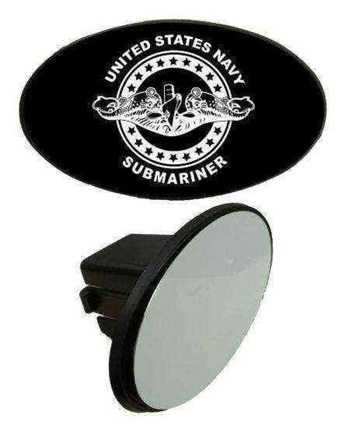 navy submarine badge tow hitch cover