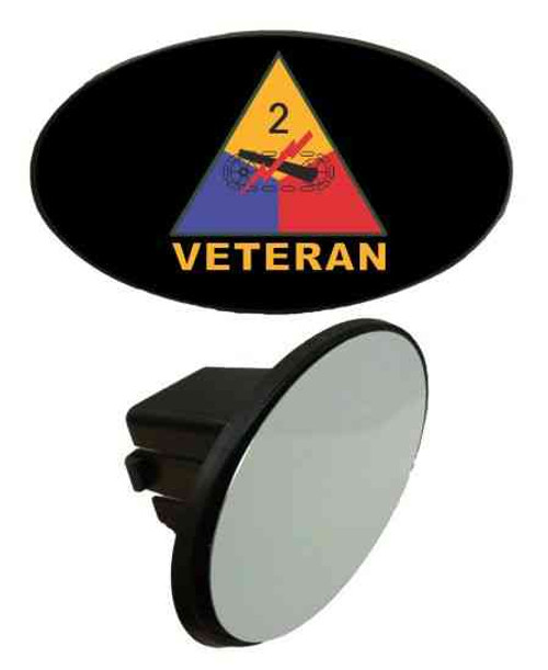 army 2nd armored division veteran tow hitch cover