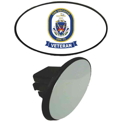 uss decatur veteran tow hitch cover