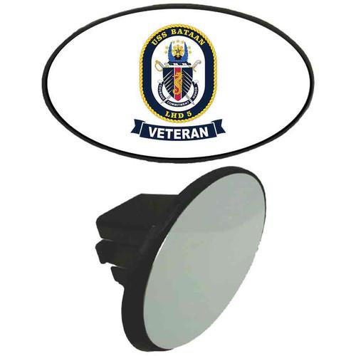 uss bataan veteran tow hitch cover